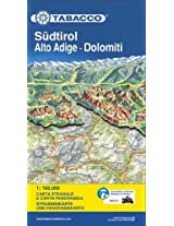 South Tirol / Alto Adige / Dolomites Road Map & Panoram. Map 2013: TAB.MB.03