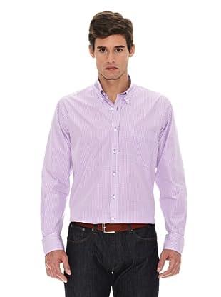 Turrau Camisa Cuadro Pequeño Bicolor (Lila)