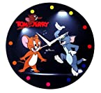 Zeeshaan Micky Mouse Polka Dots Multi Color Round Wall Clock