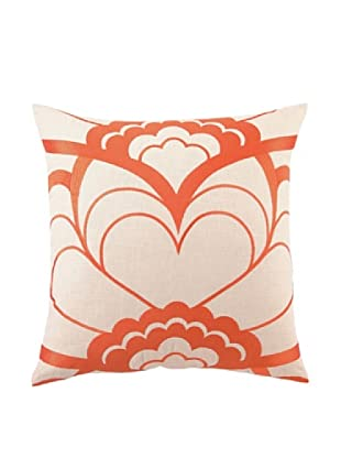 Trina Turk Deco Floral Embroidered Pillow (Orange)