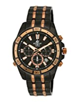 Casio Edifice Stopwatch Chronograph Multi-Colour Dial Men's Watch - EFR-534BKG-1AVDF (EX174)