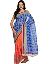 Parchayee Women's Net Saree (93239, Blue, Free Size)