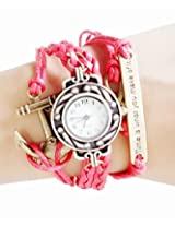 Red Vintage Time is What You Make of It Inspirational Bracelet Watch