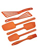 Rachael Ray 6-Piece Nylon Tool Set, Orange