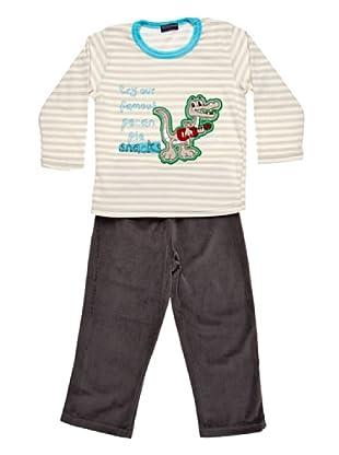Blue Dreams Pijama Infantil Niño Terciopelado (gris)