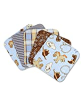 Trend Lab Set of 5 Wash Cloth, Cowboy Baby