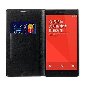 Original Flip Case for Xiaomi Redmi Note 4G (Black)+ Free Clear Screen Guard