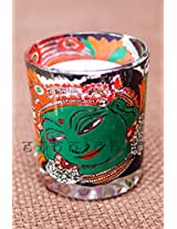 EthniChic Hand painted Kerala Mural Votive Holder