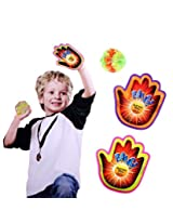Funny Outdoor Sports Play Set Toys 1 Suction Ball 2 Hand Sucker Sticky Novelty item Children Training Toy (Multi Color)