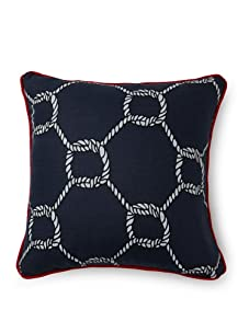 """Room Service Nautical Rope 20"""" x 20"""" Pillow (White/Blue)"""