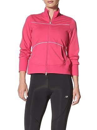 New Balance Yoga Women's Cropped Jacket (Bright Rose)