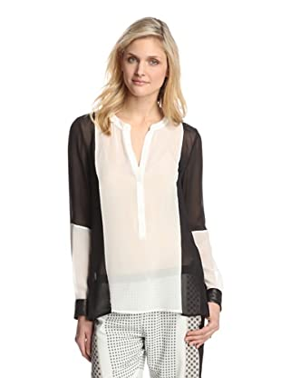 PJK Patterson J. Kincaid Women's Madison Blouse (Black/White)