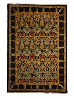 Darya Rugs Modern Oriental Rug, Gold, 6' 1