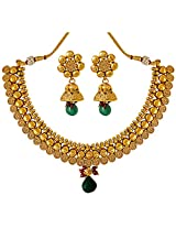 Surat Diamonds Round Spiral Gold Plated Copper Fine Designer Fashion Jewellery Set for Wedding / Engagement for Women (PS308)