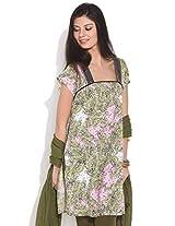 Diva Multi Ethnic Print Cotton Kurta, Pink, Xl