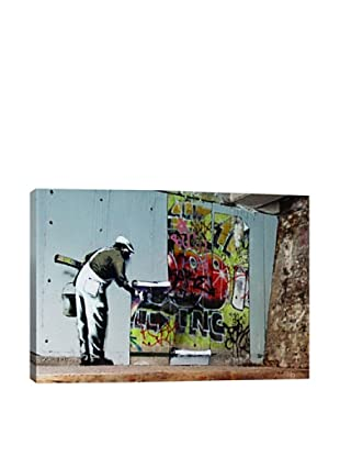 Banksy Graffiti Wallpaper Hanging Giclée On Canvas