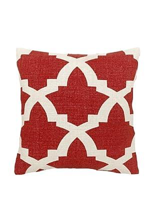 Mela Artisans Ava Silk Pillow, Coral