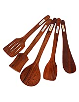 Varnware - 5 PC High Quality (Premium) Wooden Spatula Set