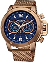 Akribos XXIV Men's AK515RG Conqueror Mesh Bracelet Multi-Function Watch