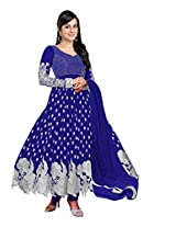 Clickedia Women Brasso Salwar Suit Dress Material (Blue Color _Free Size)