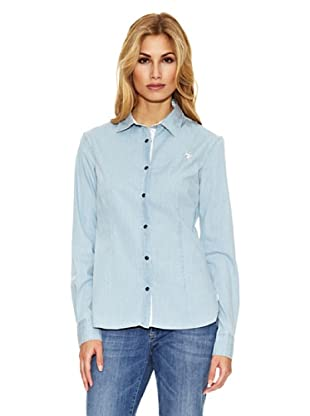 US Polo Assn Camisa Vivo Estampado (Azul)