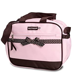 Baby Essentials Dot Ribbon Mid Sized Bottle Bag Pink