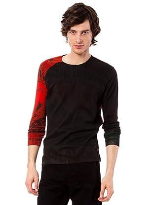 Custo Camiseta (Negro / Rojo)