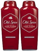Old Spice Classic Body Wash, 18 oz, 2 pk