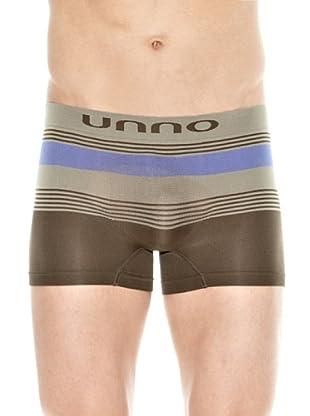 Unno Boxer Logo (Marrón / Caqui / Azul)