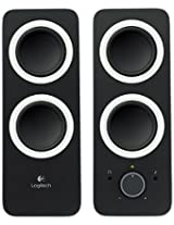 Logitech Multimedia Speakers Z200 with Stereo Sound for Multiple Devices, Midnight black
