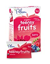 Plum Organics Teensy Fruits, Berry, 5 Count (Pack of 8)