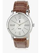 Ds 2112 Br01 Brown/White Analog Watch Dvine