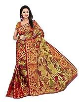 Pichkaree Maroon Walkalam Silk Handloom Saree