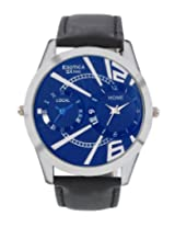 Exotica Analog Blue Dial Men's Watch (EX-88-Dual-SB)