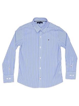 Tommy Hilfiger Camisa Rayas Bordado (Azul)