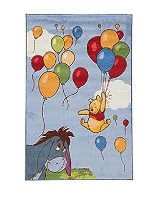 Disney Teppich Disney Comfort Line Winnie Balloons_Cl blau/gelb 100 x 150 cm