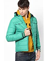 Solid Green Bomber Jacket