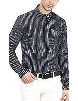 Yellow Submarine Men's Cotton Campri Print Cotton Shirt