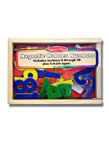 Numbers Wooden 25 Magnets-in-a-Box Gift Set + FREE Melissa & Doug Scratch Art Mini-Pad Bundle [04497