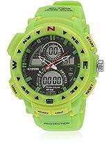 Fs200-Gr01 Green/Black Analog & Digital Watch