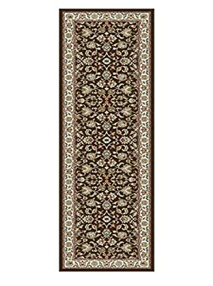 Universal Rugs Capri Traditional Runner, Brown, 2' x 8'