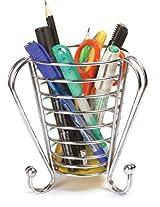 Eoan Cutlery Organizer For Kitchen - 11.8 cms x 12 cms x 13 cms, Silver Chrome