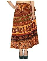 Rajrang Womens Wear Printed Work Wrap Around Long Skirt