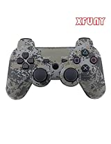 XFUNY(TM) Premium New Generic Rechargeable Wireless Bluetooth Remote Game Controller for Sony PS3 Playstation 3 Video Game (Camouflage Gray)