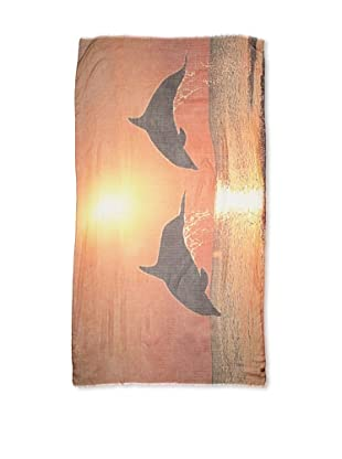 CHIC Women's Dolphins Digital Woven Viscose Scarf, Multi, One Size