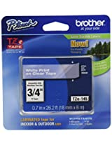 Brother Tape, Laminated White on Clear, 18mm (TZe145)