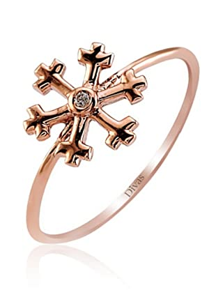 Divas Diamond Anillo Diamante Snowflake (Oro Rosa)