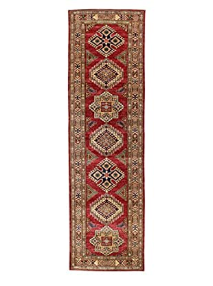 Bashian Rugs One-of-a-Kind Hand Knotted Kazak Rug, Red, 2' 10