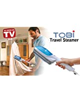 Urban Living Tobi Quick Travel Steamer(27.9X6.3X5.08 Cm,White - Blue)