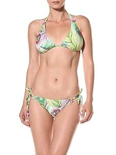 Nanette Lepore Swim Women's Central Park Vixen Bikini Top (Peacock)